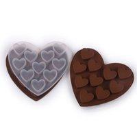 10 تجويف القلب سيليكون الشوكولاته الخبز قوالب آيس كيوب صينية البسكويت الكوكيز diy كعكة كعكة تشيز كيك قوالب