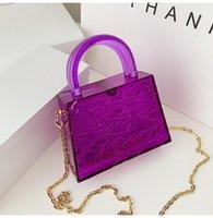 Shoulder Bags Top Handle Transparent Bag Small Woman Phone Chain Lipstick Messenger Handbag Box Evening Cigarette Case Acrylic Clutch