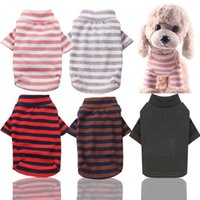 Dog Apparel Pet Striped Clothes Elastic Bottoming Shirt Cotton Warm Winter T-shirt Cat Puppy Cosstume