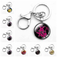 Designer keychain Brand key chain Squid Game Villain Mask Men With Clasp Classic Round Glass Pendant Holder ring For Women