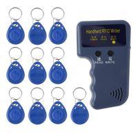 Toegangscontrole Kaartlezer Handheld 125KHZ RFID ID Writer Duplicator Programmeur Match Beschrijfbare EM4305 Keyfobs Tags Sleutel Kaarten