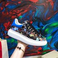 Mode Designer Freizeitschuhe Frauen Männer Herren Daily Lifestyle Graffiti Skateboarding Schuh Luxus Trendy Plattform Wandertrainer Schwarz GL K5