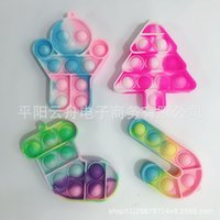 2021 Christmas Toy series key chain pendant silicone puzzle decompression toys