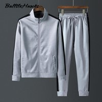 Men's Tracksuits Sportswear Set Spring Autumn Two Piece Sets Sportsuit Jacket Pant Sweatsuit Male Clothing Patchwork Tracksuit Plus Size