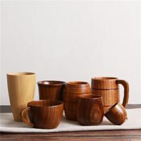 Canecas Canecas de madeira Proteção Ambiental Log renovável Caneca de chá de madeira rosas xícaras de chá de chá verde xícaras ZC031