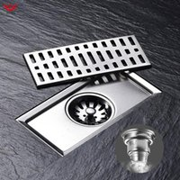 Other Bath & Toilet Supplies WETIPS Floor Shower Drain Square Cover Drains Odor Removal Linear Drainage Channel Banheiro Cocina Fast