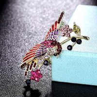 Pins, Brooches Donia Jewelry Nice Colorful Enamel Birds Bridal Brooch Pins Women Kids Scarf Clothes Hat Accessories Men