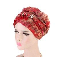 Mulheres Moda Scarf Hijab Hat Multi-Estilo Decorativo Jóias Colar Beading Pingente Lenço Turbante Acessórios de Cabelo Atacado
