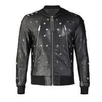 Skull Faux Leather jacket mens Zipper Slim Fit Short hip hop Casual Outside Sport designer Motorcycle coat black Biker Letters fashion