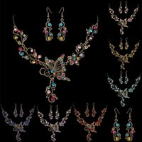 Earrings & Necklace Set Auger Beautiful Butterfly Suit Spring Series Jewelry Resring Ancient Ways Manufacturers Selling