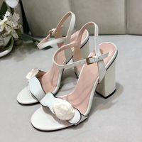 Дизайнерские сандалии кожаные высокие каблуки женские туфли летние офисные свадебные кнопки открытый носок украшения сексуальный ночной клуб танцевальная T-этап