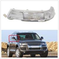 Sağ taraf VW Touareg 2002 2003 2004 2005 2006 Araba-Stying Arka Ayna LED Dönüş Sinyal Göstergesi Işık Lambası