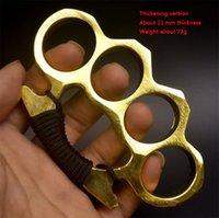 Thickened Metal Finger Tiger Safety Defense brass Knuckle Duster Self-defense Equipment Bracelet Pocket EDC Tool