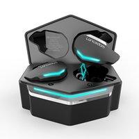 2021 탑 판매자 LangsDom G30 TWS LED RGB 게임 헤드폰 낮은 지연 블루투스 이어 피스 게임 이어폰이있는 진정한 이어 버드