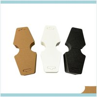 Price Tags, Card Packaging & Display Jewelrykraft Paper 5X12Cm Hanging Blank Cards Necklace Tags For Displaying Jewelry Bracelets And Earrin