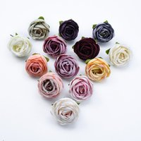 10pcs Silk Roses Bud Diy Gifts Box New Year Christmas Decoration for Home Wedding Bridal Accessories Clearance Artificial Flower