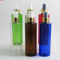 20 × 250 ملليلتر فارغة إعادة الملء الحيوانات الأليفة البلاستيك ميست العطور 8 أوقية العنبر الأزرق البخاخ زجاجة التجميل البخاخات رذاذ زجاجات جوت