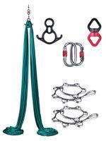 8m Aerial Yoga Hammock Set Acrobatic Dance Yoga Hammock Aerial Silk Tecido Swing Cinturão de Qualidade