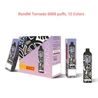 Authentic Disposable E Cigarette RandM Tornado 6000 Puffs Vape Pen with Prefilled 12ml Pod Device