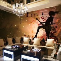 Wallpapers Dropship Custom Hand Drawn Passionate Unrestrained Guitar Beauty Wallpaper For Living Room 3d Wall Cover Papel Mural