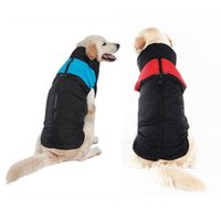 Dog Apparel Large Clothes Winter Waterproof Polyester Vest Cotton Jacket Warm Dogs Clothing For Labradors Golden-hair Alaskan Malamute