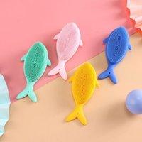 Karikatür silikon banyo fırçası banyo şampuan fırçası bebek cilt bakım ürünleri anne ve bebek için