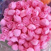 500pcs 3cm Mini têtes de fleur de rose artificielle de la mousse PE pour mariage décoration à la maison de mariage fausses fleurs boule artisanat Fournitures 210706