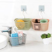 Storage Baskets Home Kitchen Hanging Basket Bin Toy Box Drain Bag Bath Tool Sink Holder Soap Bathroom Organizer