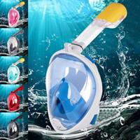 Masques de plongée Enfants Full Full Face Snorkeling Protecteur anti-buée Liquide Silicone Snorkel Plongée Masque de baignade Verres Accessoires
