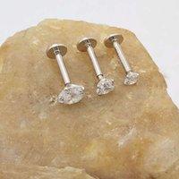 S925 سيري الجسم ثقب المجوهرات أربعة مخلب الزركون الشفاه الأنف الأزياء العصرية الأذن العظام الأذن