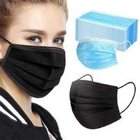 استخدام المنزل قناع الوجه المتاح الصناعية 3ply الأذن حلقة قابلة لإعادة الاستخدام غطاء الفم الأزياء أقنعة النسيج الماسكا