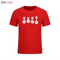 Новые моторные поршни мода мужские футболки с коротким рукавом смешные футболки хлопчатобумажные футболки мужчина одежда бесплатная доставка XS-XXL 210301