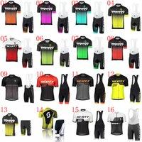 Hombres ciclismo Jersey Set Scott Team Summer Manga corta transpirable MTB Bicicleta Sportswear Maillot Ciclismo Mountain Bike Ropa 031713