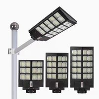 Solar Street Lampes 300W 400W 500W 500W Large Large Éclairage extérieur Lampe murale Pir Motion Light Control pour Yard Garden