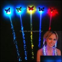 Aessori Strumenti ProdottiButterfly LED Lampeggiante Capelli Treccia incandescente luminosa Fornitori di forcella Novelly Hairs Girls Girls Giocattoli Party Natale