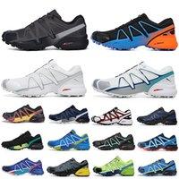 سبيد كروس salomon 4 CS حذاء رياضي رجالي شبكة سبيد كروس ثلاثية أسود أبيض أزرق أحمر أصفر أخضر رجال نساء أحذية رياضية خارجية مقاس كبير 40-47