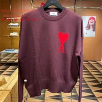 carta ami alexandre mattiussi20 otoño e invierno corazón corazón un equipo de cuello redondo amor corazón suéter