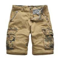 Casual Hosen Herren Sommer Fracht Hosen Plus Größe Multi Pocket Fashion Classic Camouflage Kurze Hosen Größe 28 -38