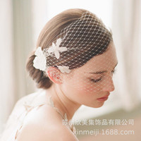 New Hand Sewn Hair Comb Flower Bridal Veil Style Big Mesh Wedding Dress Headdress Studio Modeling Accessories