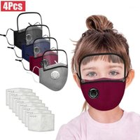 4 Pcs Respirator Kids Face Maks For Germ Protection Detachable Eye Shield Cotton Face Maks Reusable Maskking Mascarillas Bandana1