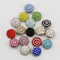 Cuff 17Colors To Choose! High Quality 20mm Metal Snap Buttons Diy Rhinestone Charms Fit Button Bracelet Jewelry