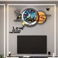 Simple And Practical Clock Wall Lamps Creative LED Wall Lights Living Room Bedroom Decoration Lamp Modern Study Restaurant Sconce Personality Background Lighting