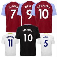 20 21 Aston Jersey Jersey Jersey Grealish Watkins Wesley Hogan Villa Villa à la maison 3ème 2020 2021 Chemise pour hommes et enfants de football