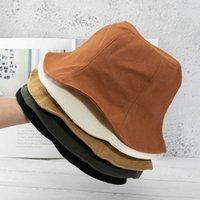 Hut Casual Pure Color Twill Baumwolle Fischerhut Show Gesicht Kleine japanische Lotos Blatt Eimer Hohe kalte Abstinenzbecken