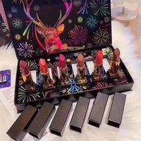 Set di rossetto opaco da labbro opaco 6 in1 labbra raccolta fireworks rossetti rossetti make up set per regali di Natale