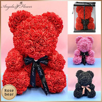 Valentine' s Day Gift Foam Rose Bear With Box PE Teddy R...