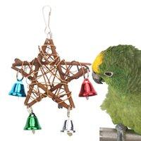 Pappagallo giocattoli per uccello pentagramma forniture accessori campanelli cockatiel perch toy budgie parrocchetto gabbia decorazione parchet papegaai