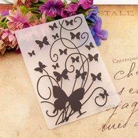Ferramentas de artesanato Plástico Gravação Pasta modelo DIY Scrapbook PO cartão fazendo decoração artesanato borboleta