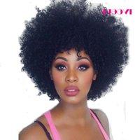 Virgem Malásia Afro Kinky Curly Lace Perucas Cabelo Humano Cabelo Frente Lace Peruca De Cabelo Humano Com Bebê Cabelo 8A Omjkr