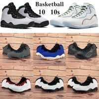 2020 alta 10 10s Tênis de basquete Seattle Asas Pó Homens Mulheres sapatilhas frescas cinza Drake OVO preto branco de fumaça Luz Trainers cinza